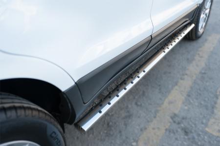 Ford Ecosport 2014- Пороги труба 75х42 овал с проступью FEO-002058